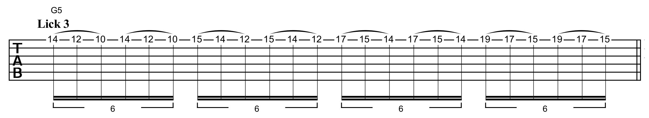 ascending the E natural minor scale using pull-offs on just one string
