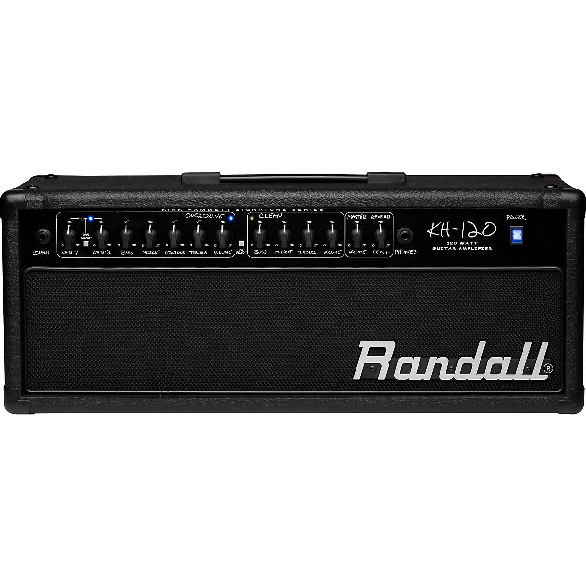 the Randall KH120 120 watt Kirk Hammett signature amp head