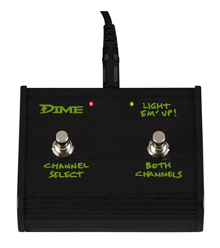 Dime Amplification D100 head footswitch, with the option of using both channels at once.