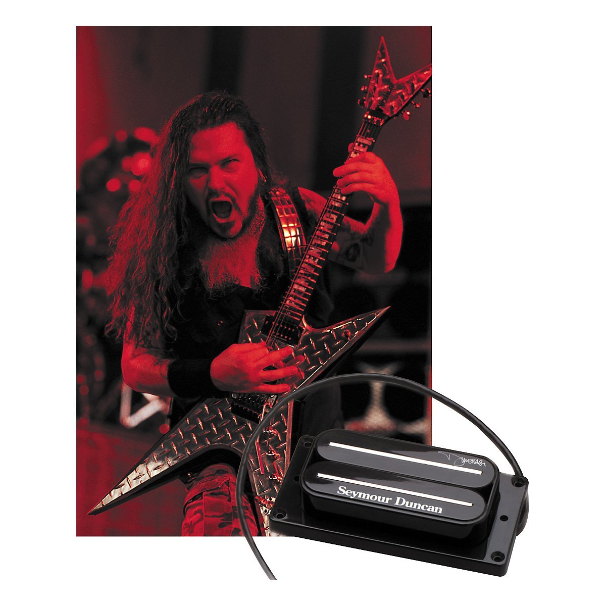 the seymour duncan sh13 dimebucker is a replica of Dimebag's custom humbucker