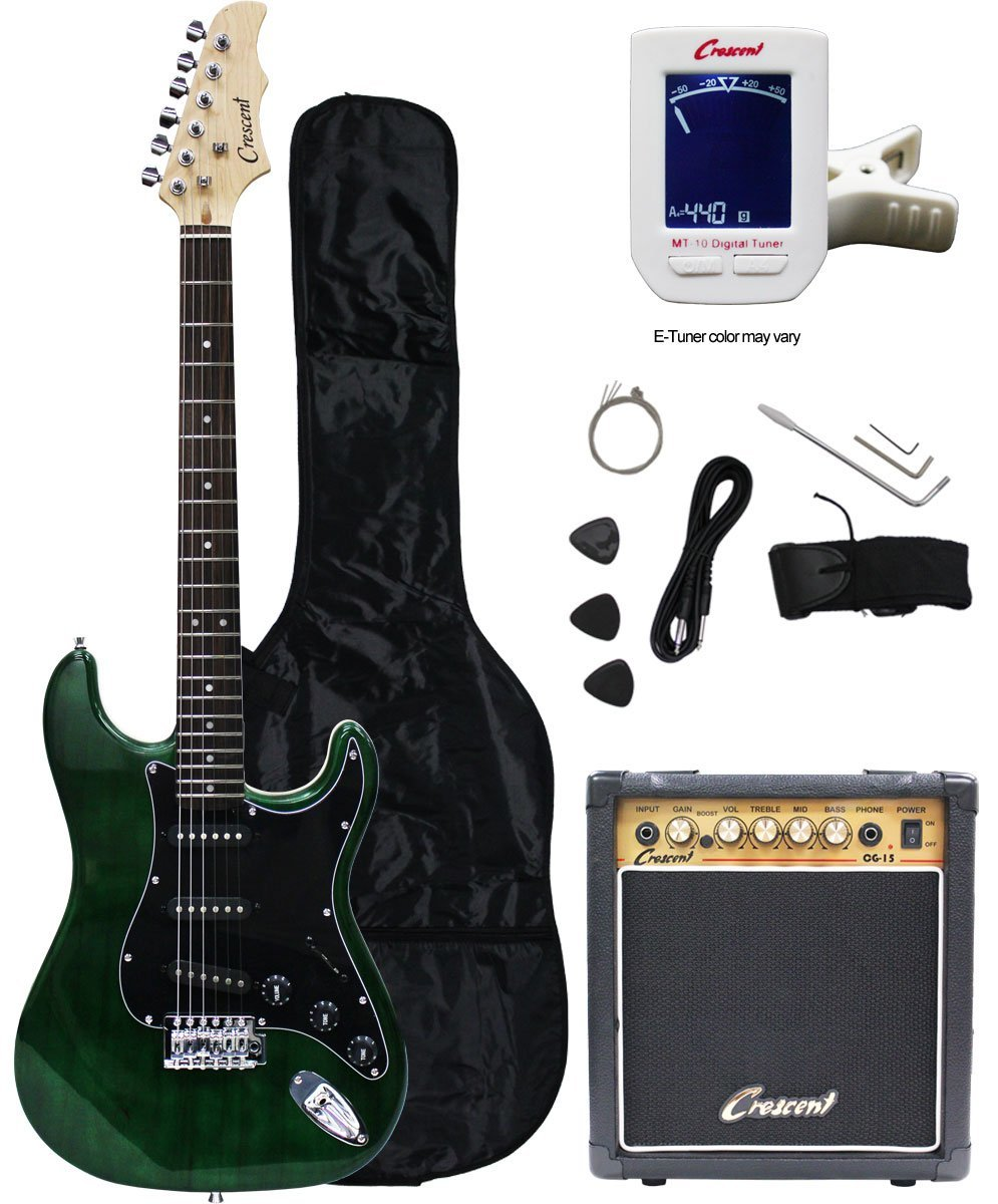 crescent electric guitar starter kit review. Black Bedroom Furniture Sets. Home Design Ideas