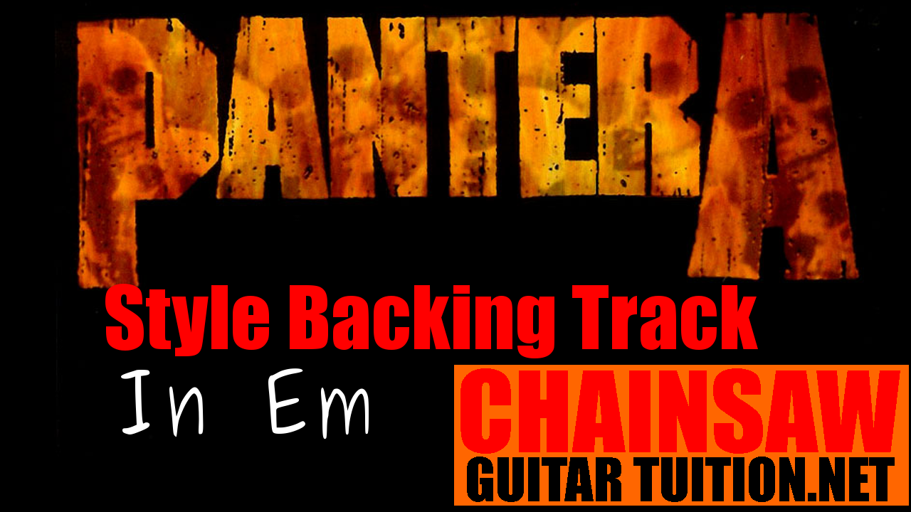 a pantera style backing track in the key of E minor