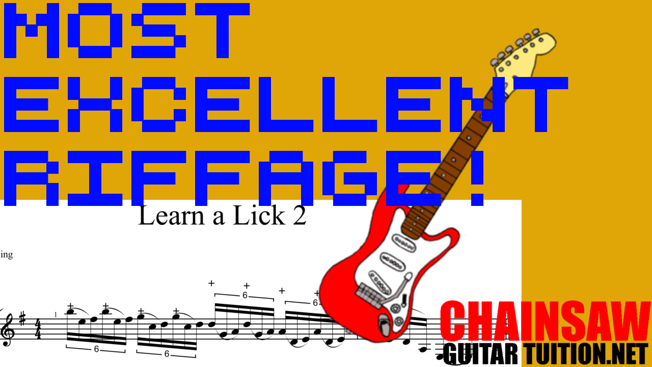 learn this excellent tapping lick across the neck using the dorian mode