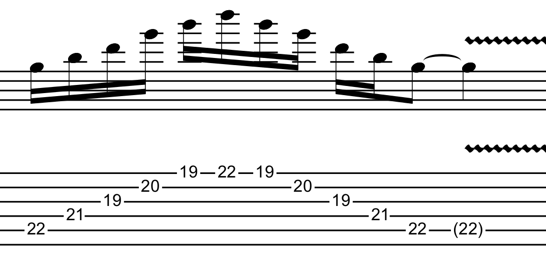 G major arpeggio in C shape