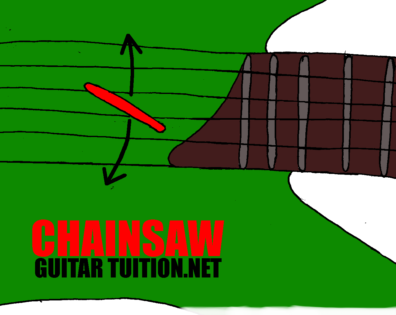 move the pick up and down, but angle it against the strings, and only use the very tip if you want to play fast