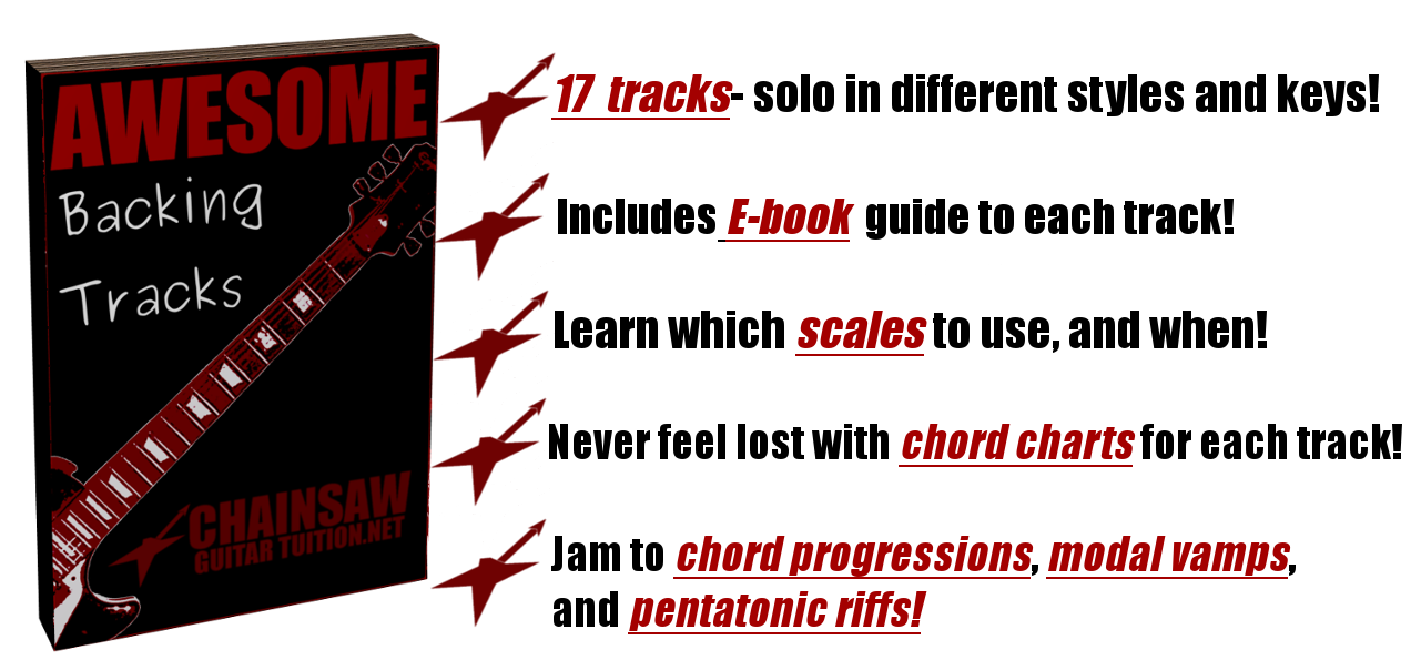 learn to play along to 17 backing tracks in different keys and styles
