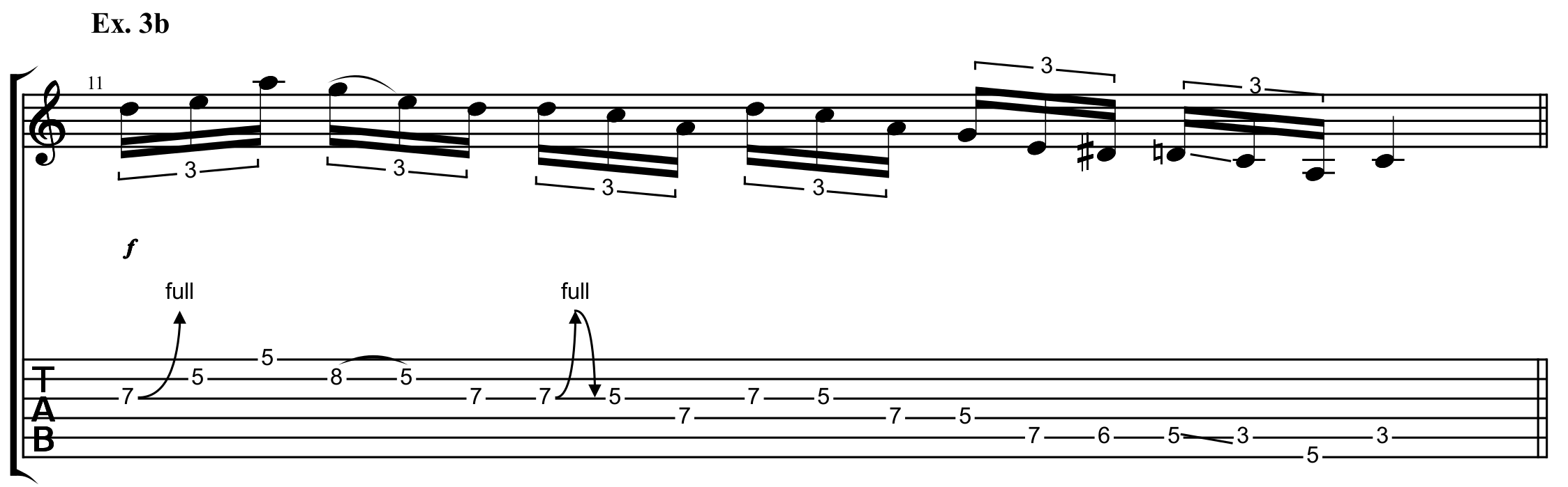 descending pentatonic scale run inspired by pink floyd